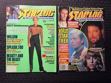 1988/91 STARLOG Movie Magazine #130 FVF #173 FN+ LOT of 2 Star Trek Beetlejuice