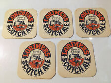 5 x Lorimers Scotch Ale Beer Mats (4.2)