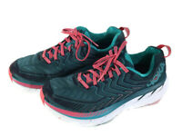 Hoka One One Clifton 4 Women's Athletic Running Shoes Teal Coral Size 10