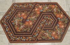 "Hand Made Quilted Table Runner/ Topper / Mat ~ Birds/Flowers ~19"" x 33.5"""