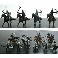 5-7cm Soldier Model Medieval Knights Warriors Horses Figures Playset Toy Gift