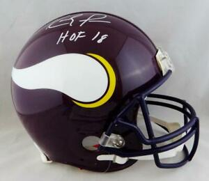 Randy Moss Signed Vikings F/S Authentic 83-01 TB Helmet W/ HOF- JSA W Auth *Whit