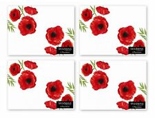 Set of 4 Placemats Poppy Design Dining Table Mats Dinner Home Kitchen Place Mat