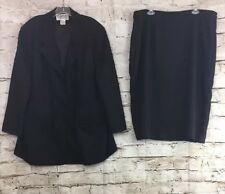 Womens Skirt Suit St.Anthony Evening Size 22W Color Black