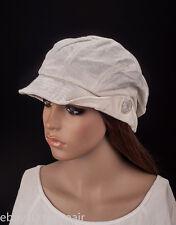 M488 White Cute Stripe Sparkle Lady Women Summer  Sun Hat Newsboy Beanie Cap