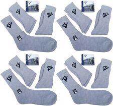 RUCANOR 4 Packs Grey Triple 3 Pack Quality Soft Sport Socks 78% Cotton UK 3-5