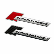 Car Aluminum Stickers SUPERCHARGED Emblem Fender Badge Sticker Self-adhesive