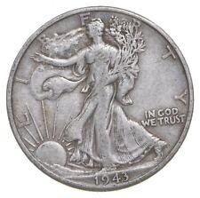 50c SHARP - 1943-D Walking Liberty 90% Silver US Half Dollar *662