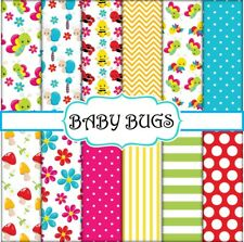 BABY BUGS SCRAPBOOK PAPER - 12 x A4 pages