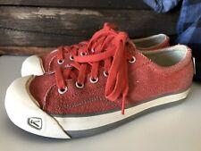 Keen Women Sz 7.5 Vegan Orange Lace Up Coronado Canvas Sneaker Shoes