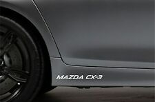 2x Skirt Side Stickers fits Mazda CX-3 Sticker Bodywork Car Decal VK41