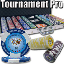 New 750 Tournament Pro 11.5g Clay Poker Chips Set w/ Aluminum Case - Pick Chips!