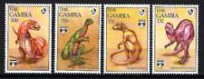 Animaux Préhistoriques Gambie (35) série complète 4 timbres neufs **
