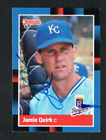 Jamie Quirk #404 signed autograph auto 1988 Donruss Baseball Trading Card