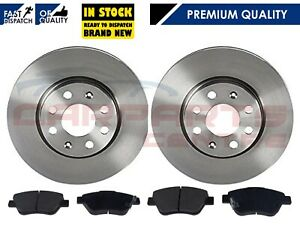 VAUXHALL CORSA D FRONT BRAKE DISCS AND & BRAKE PADS 1.2 1.4 2006-2014 VENTED New