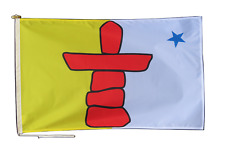 More details for nunavut canada flag with rope and toggle - various sizes