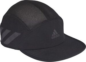 adidas AeroReady Running Cap Black 3 Stripes Reflective Breathable Lightweight