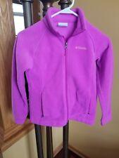Columbia Girls Pink Fleece Jacket Size M (10-12)