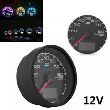"2.5"" 7 Color LCD Display Car Oil Temp Gauge With Voltage Meter Shockproof DC12V"