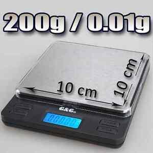 200g/0,01g Goldwaage Feinwaage digital-Waage LS
