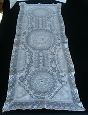 """New listing Antique French Normandy Lace Tambour Runner 44"""" long"""
