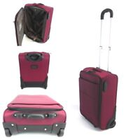 RYANAIR EASYJET GOOD QUALITY CABIN SIZE  HAND LUGGAGE WITH WHEELS FITS 50X40X20