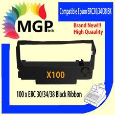 100x BLACK new Printer Ribbon for Epson ERC34 ERC38 ERC30 ERC 30 34 38 TM-U220
