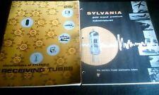 Two Vintage Sylvania Tube Catalogs Gold Brand Premium Subminatures & Receiving