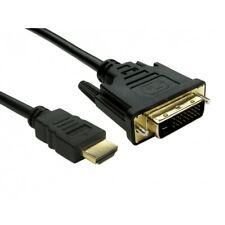 TheFlyingWhopper®️ Gold 24+1 DVI-D Male to HDMI Male Cable for HDTV HD. 1 Metre.