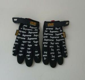 SS17 Supreme x Mechanix wear gloves black size S small