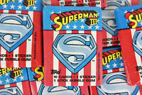 Topps Superman III Collectible Trading Cards, One Wax Pack, 1983