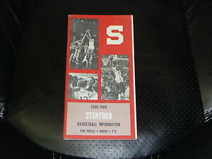 1968 1969 STANFORD UNIVERSITY COLLEGE BASKETBALL MEDIA GUIDE EX-MINT