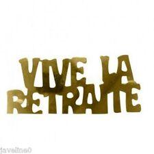 """Paillettes confettis de table or """"vive la retraite"""""""