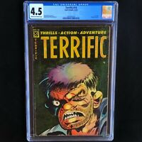 TERRIFIC #14 (Comic Media 1954) 💥 CGC 4.5 💥 ONLY 23 in CENSUS! 1st Issue