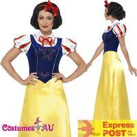 Ladies Princess Snow White Costume Disney Fairy Tale Book Week Fancy Dress Party