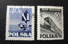 """POLONIA,POLAND,POLSKA, 1954 """" Giornata dei Ferrovieri """" 2V. cpl set MH/USED"""
