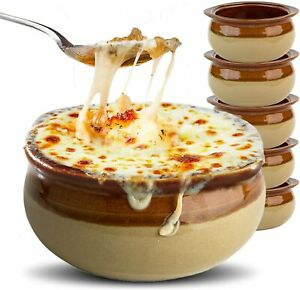 Stock Your Home French Onion Soup Crocks (6 Count) - 12 Ounce Oven Safe Bowls