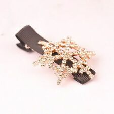 Girls Crystal Rhinestone Hair Clip Fashion Bowknot Barrette Clamp Hairpin New
