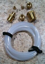 """NOS MECHANICAL OIL PRESSURE GAUGE INSTALLATION KIT with FITTINGS & 72"""" TUBING"""