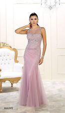 SALE ! SLEEVELESS PROM EVENING FORMAL SPECIAL OCCASION DRESSES LONG FITTED GOWNS