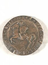 Antique Military Order Loyal Legion Week 1933 Bronze Paperweight