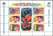 Madagascar 1994 Elvis/Monroe/Lennon/Music/Trumpet/Sax/StampEx/UPU 6v sht (b5224)