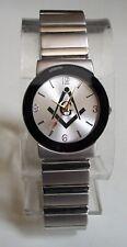 Men's Small Dial Silver Finish Dressy/Casual Mason Fashion Wrist Watch