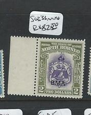NORTH BORNEO (P2402BB) $2.00  BMA ARMS, LION SG 333  MNH