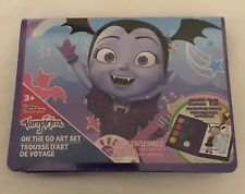 New Disney Vampirina On-the-Go Art Set Carry Along Kit Pages & Watercolor Paints