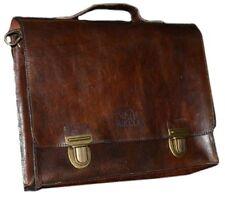 Rokker Brief Case Echtleder Aktentasche Klassisch Vintage für Herren und Damen