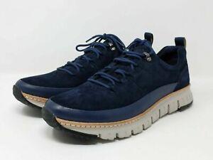 Cole Haan Men's Shoe Zero grand Rugged Oxford Blue Suede (C28469) Size 12M