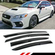 FOR 2012-2016 SUBARU IMPREZA BASE 4DR 3D WAVY WINDOW VISOR RAIN GUARD DEFLECTOR