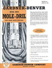 Equipment Brochure - Gardner-Denver - Mole-Dril - Mining - 4 items (E3555)