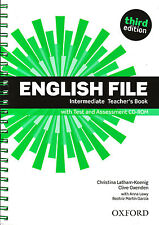 ENGLISH FILE Intermediate Third Edit Teacher's Book w Test &Assesment CD-ROM New